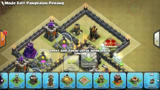 The strongest war base: Base war TH 9 terkuat (replay attact) Juli 2017 - tipe 51