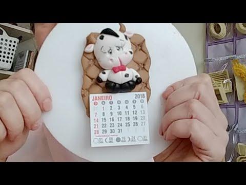 Mini Calendario.Mini Calendario Vaquinha Cute