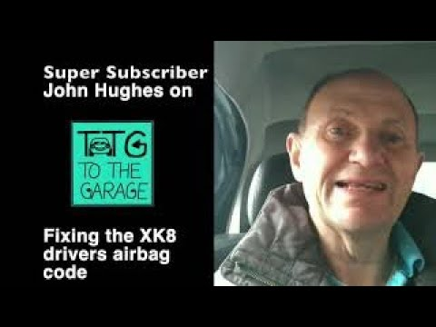 Jaguar XK8 XKR Airbag fault, blink codes and how to fix.