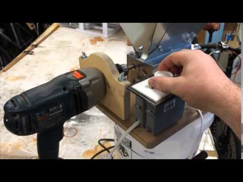Drill mount and speed control for MM3 grain mill  YouTube