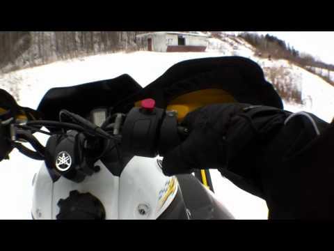 2008 Yamaha Nytro RTX Ripping Around on Chest Cam