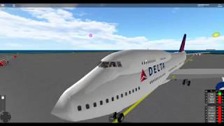 How to Fly a plane! (Roblox) Delta Airlines Boeing 747 (Read Description!)