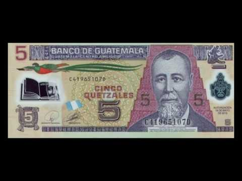All Guatemalan Quetzal Banknotes - 2010 to 2013 Issue