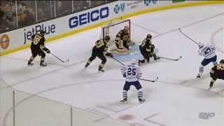 Leo Komarov beats Rask from the slot