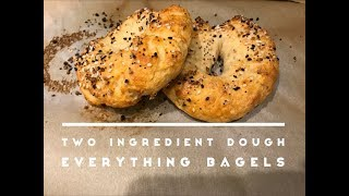 Weight Watchers Freestyle Two Ingredient Dough Everything Bagels