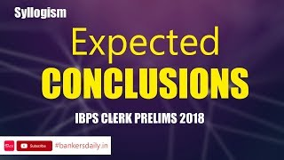 Expected Conclusions - Syllogism | IBPS CLERK Prelims 2018| Beginners | Mr. Jackson