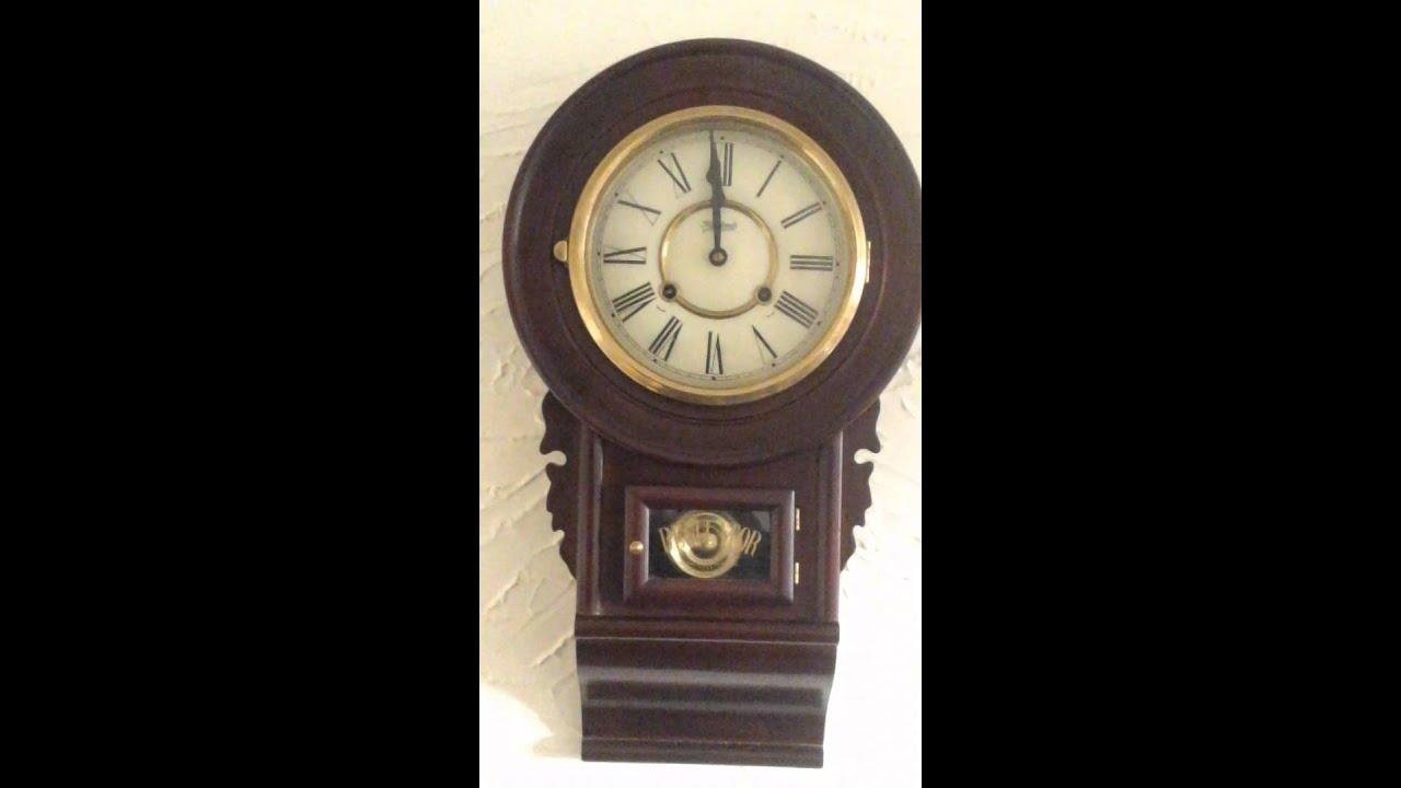 highlands windup pendulum wall clock with chimes - Pendulum Wall Clock
