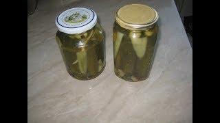 Рецепт маринованных огурцов.Маринованные огурцы  тройной заливки.The recipe of pickled cucumbers.