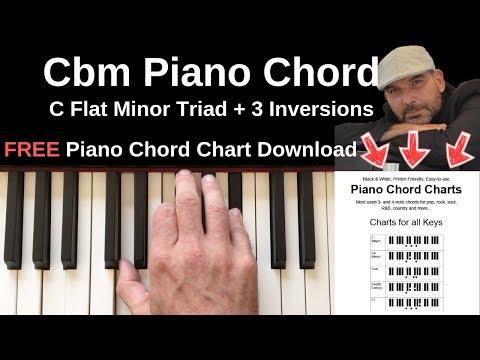 cbm piano chord | c flat minor + inversions tutorial + free chord chart