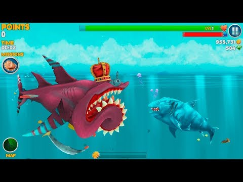 Hungry Shark Evolution Ice Shark Android Gameplay #45