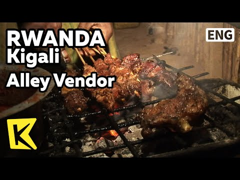 【K】Rwanda Travel-Kigali[르완다 여행-키갈리]골목 노점상 먹거리/Alley Vendor/Street/Children/Food/Night View/Merchant