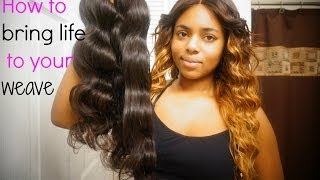 ♡HOW TO BRING YOUR WEAVE BACK TO LIFE|♡(HD) Thumbnail