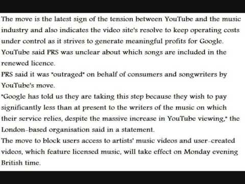 Why Youtube Have Banned Music Videos