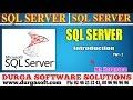 Sql Server tutorial || onlinetraining||Sql Server ||Introduction  Part - 2 by Narayana