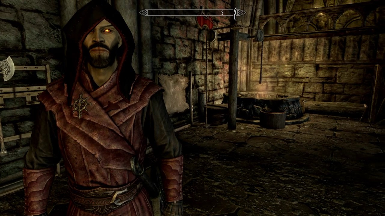 Skyrim Se Texture Glitch For Guild Masters Hood Cause Vampire Lord