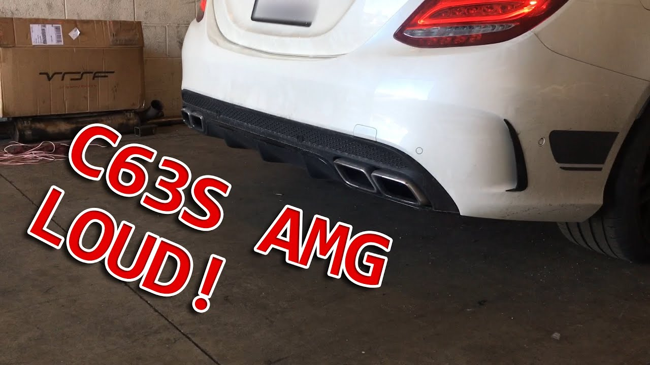 2016 C63S AMG Exhaust - Catless Downpipes