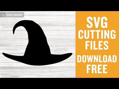 Witch Hat Svg Free Halloween Svg Hat Svg Instant Download Silhouette Cameo Shirt Design Witch Svg Free Vector Files Png Dxf 0412 Freesvgplanet
