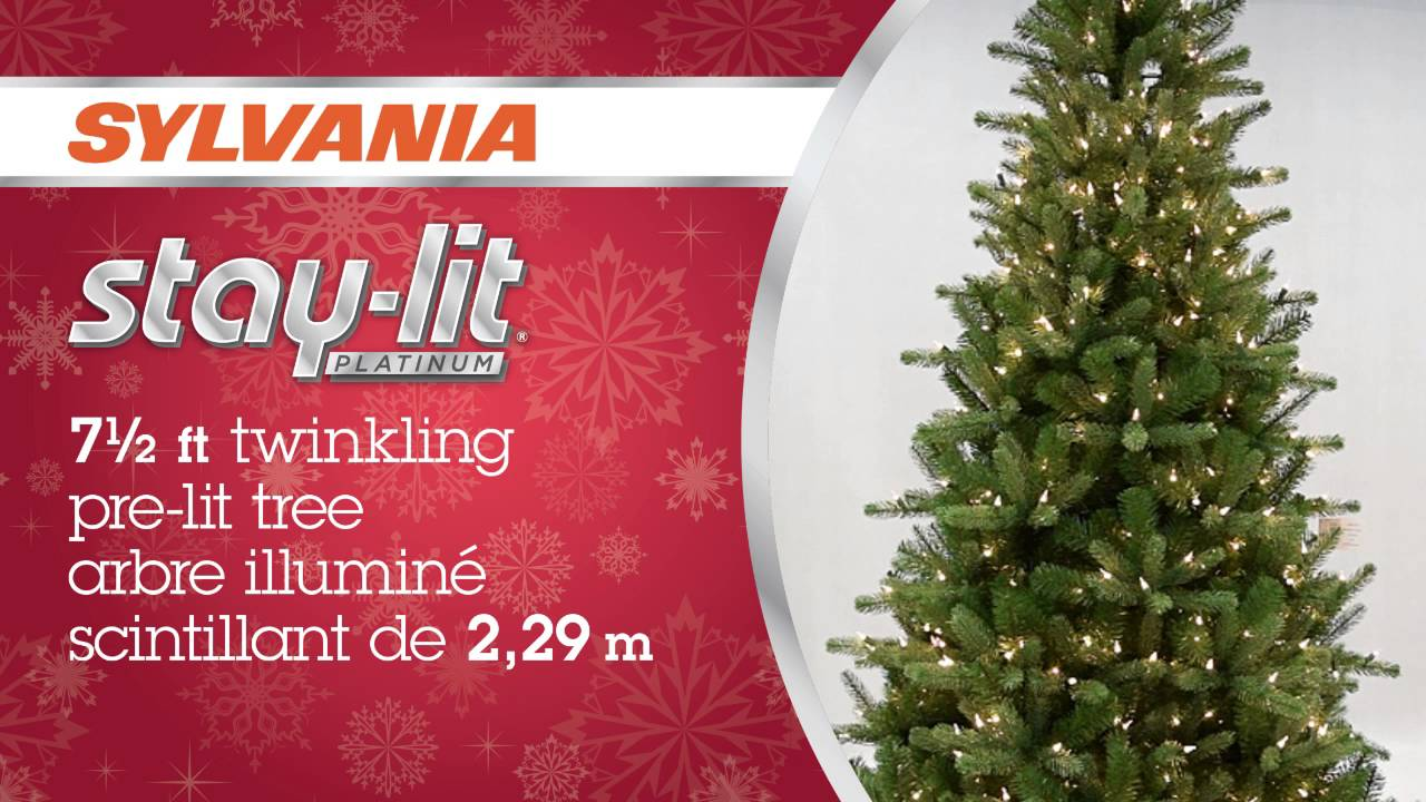 7 5' Pre Lit Christmas Tree With Twinkling Lights YouTube - Fix Christmas Tree Lights On A Pre Lit