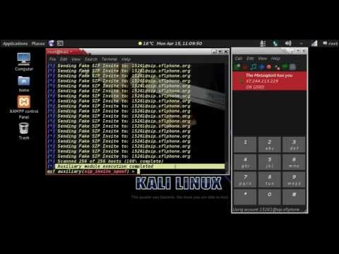 Kali linux- SIP Invite Spoof(fake call)
