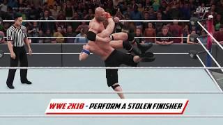 Stolen Finisher Tutorial - WWE 2K18