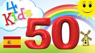 Aprender contar los números de 41 a 50 - para niños y bebés (español)