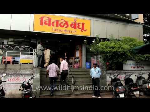 Chitale Bandhu Mithaiwale shop in Pune, Maharashtra