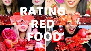 Rating Red Food ASMR
