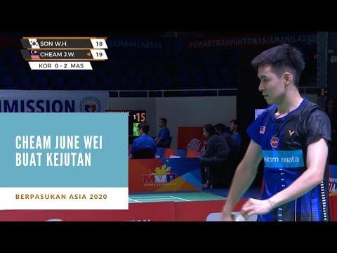 Berpasukan Asia 2020: Cheam June Wei kalahkan veteran Korea | 2-1 | Astro Arena