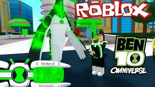 ROBLOX! NEW ADVENTURE BEN 10-I GOT THE OMNITRIX AND DEFEATED THE GIANT ALIEN SUPREME!