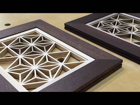 Kumiko With Triangular Gridwork, Japanese woodworking