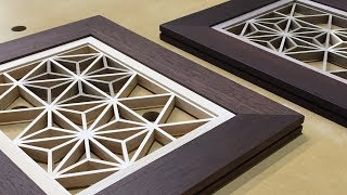 Kumiko With Triangular Gridwork, Japanese woodworking