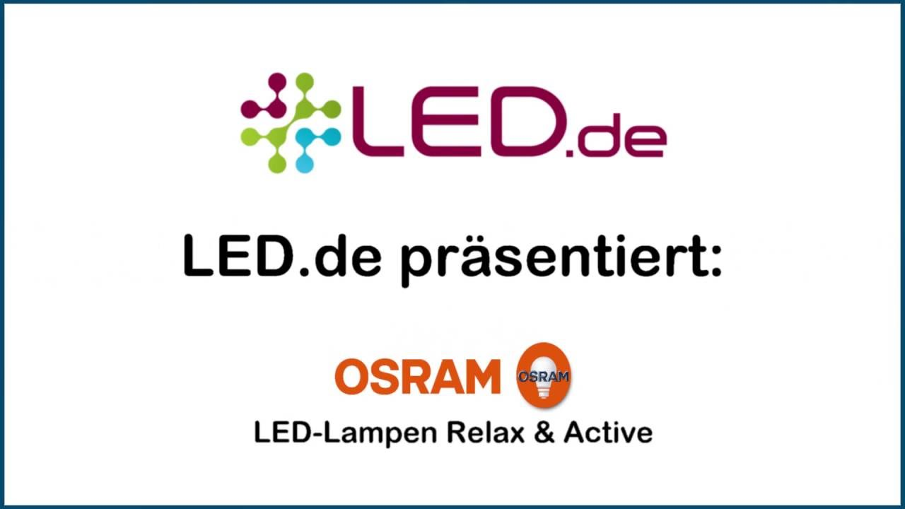 Led lampen relax active von osram demonstration youtube led lampen relax active von osram demonstration parisarafo Gallery