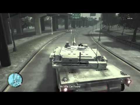 Grand Theft Auto IV Tank Gameplay (Mod)