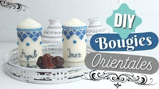 DIY BOUGIES MARIAGES / HENNE / AID ORIENTALES FACILES + TUTO CÔNE HENNÉ