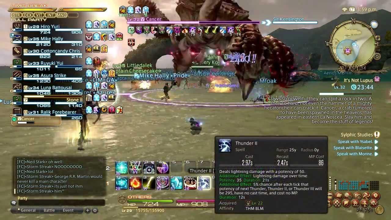 Final Fantasy XIV A Realm Reborn Fate Cancer Raid Boss