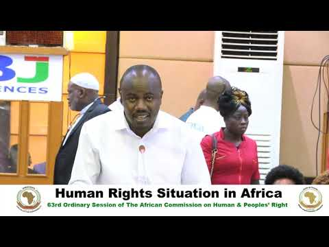 DAY 2 - #ACHPR63 - Human Rights Situation in Africa