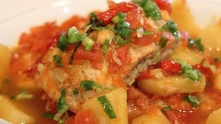 How To Make Braised Salmon In Tomato And Pineapple!
