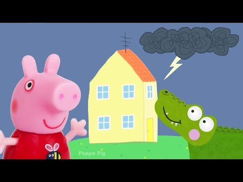 Peppa Pig Game | Crocodile Hiding with Peppa Pig Toys in Kids Cereal | Peppa Pig Friends Playset