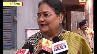 celebrity usha uttup puts her vote
