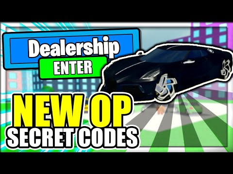 ALL *NEW* SECRET OP CODES! Car Dealership Tycoon Roblox