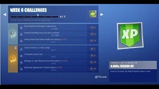 Fortnite Season 5 Week 6 Challenges (Leaked)