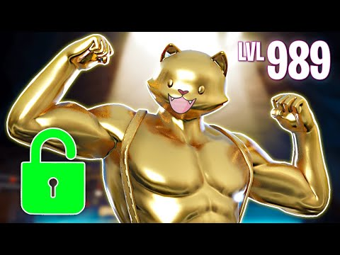 UNLOCKING GOLD MEOWSCLES! (Fortnite Battle Royale)