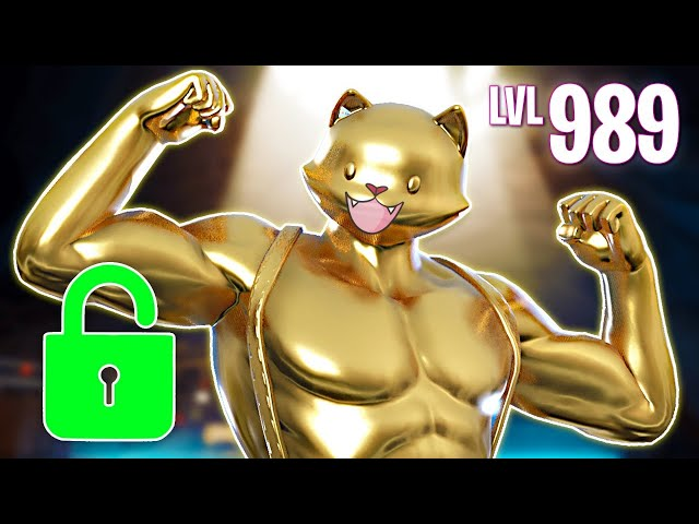 Unlocking Gold Meowscles Fortnite Battle Royale Youtube