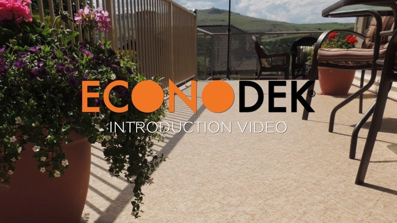 Econodek waterproof vinyl decking