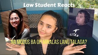 LAW STUDENT REACTS TO ICE LIM VERSUS MONICA RIVERA ON TULFO