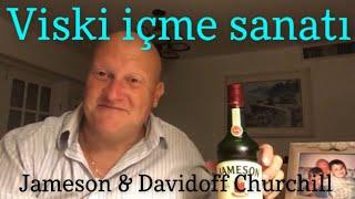 Viski içme sanatı Jameson ve Davidoff Churchill centilmenler kulübü by Albert Helmann