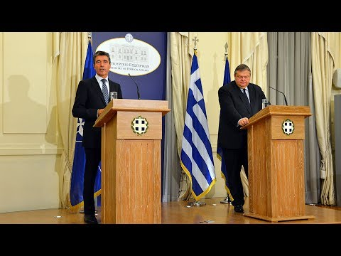 NATO Secretary General with Minister of Foreign Affairs of Greece - Joint Press Point