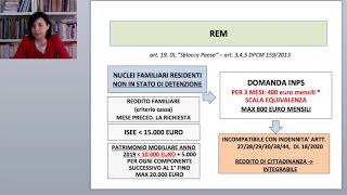 REDDITO DI EMERGENZA (REM)