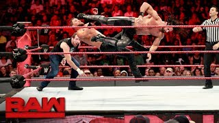 Dean Ambrose & Seth Rollins vs. The Miz & The Miztourage - Handicap Match: Raw, July 24, 2017