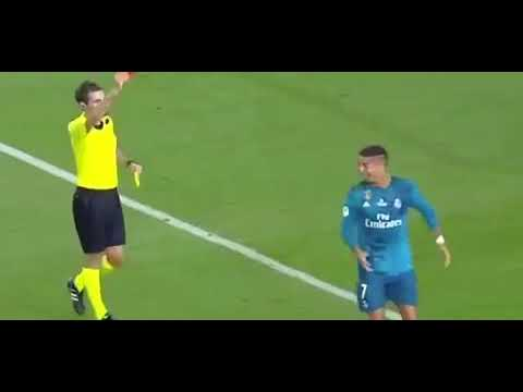 Unseen Video: Ronaldo Gets A Red Card For Diving